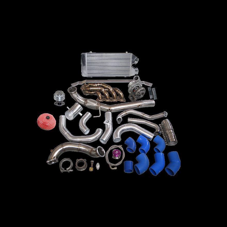 CXRacing Ball Bearing Turbo Kit For 01-06 Civic Integra