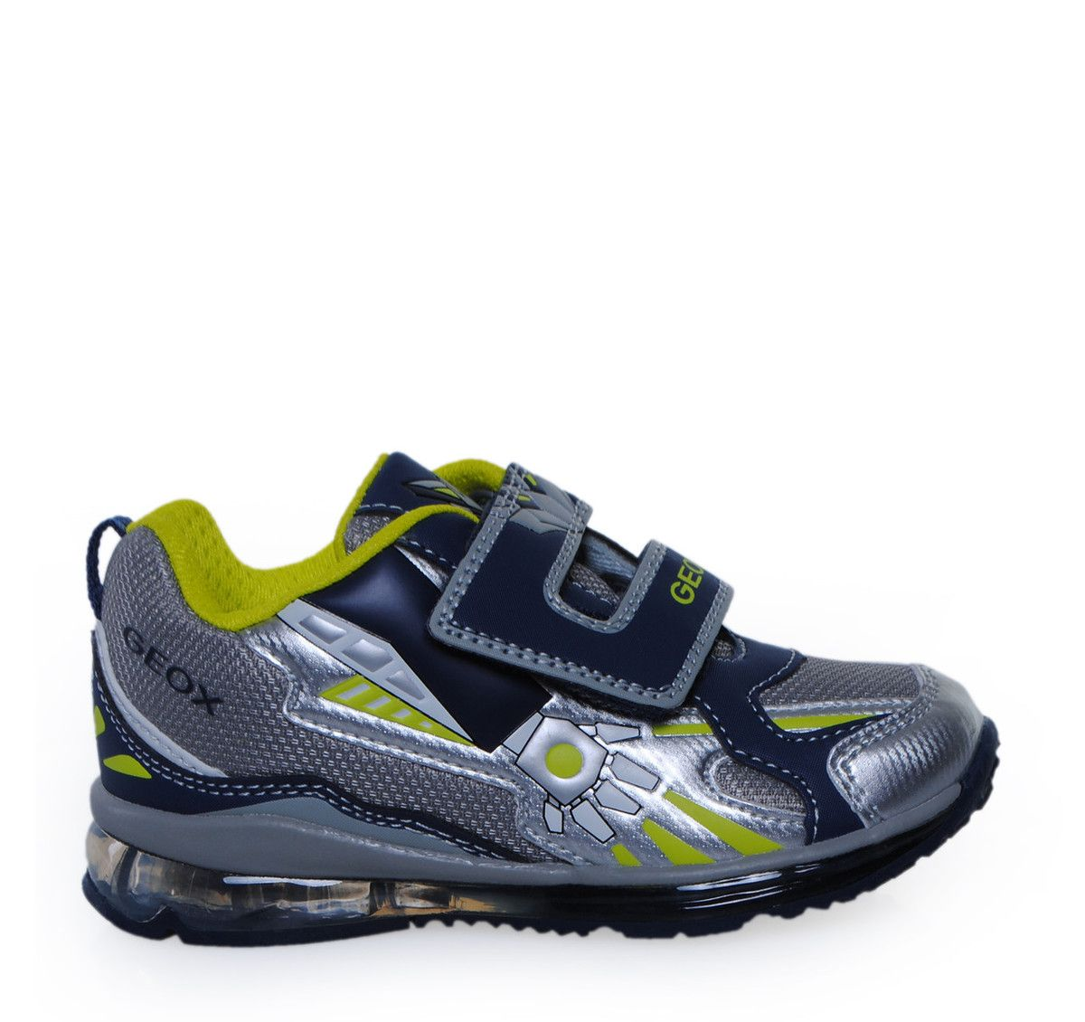 GEOX Grey Navy Sneakers with Lights for Boys. Παιδικά γκρι μπλε sneakers με 68ce181c1d6