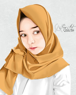 kartun muslimah wallpaper cute in 2020 Digital art
