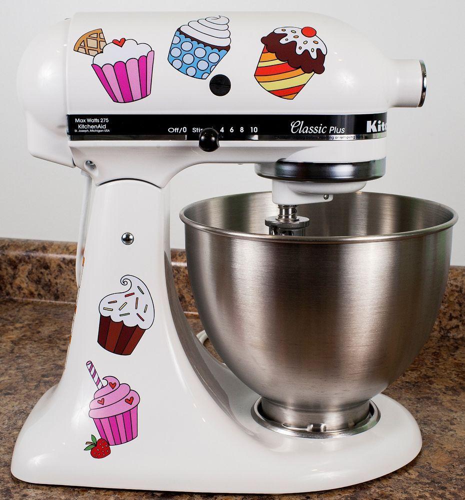 Cupcake decals on a kitchenaid mixer kitchen aid