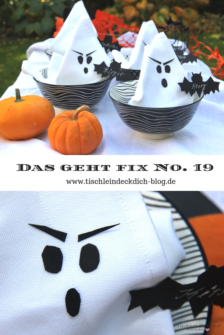 Halloween Gespenster Servietten Das Geht Fix No 19 Happy Halloween Gespenster Servietten
