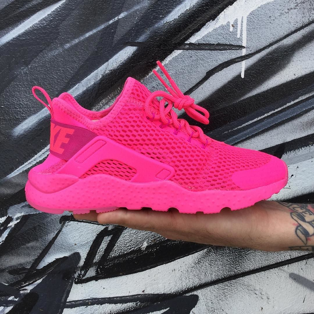 new arrival 951fe 0c880 The Nike Air Huarache Run Ultra for Ladies gets that In Your Face type of  Color Treatment.. Pink Blast Fire Pink -  125.00 Currently Available in  Women s ...