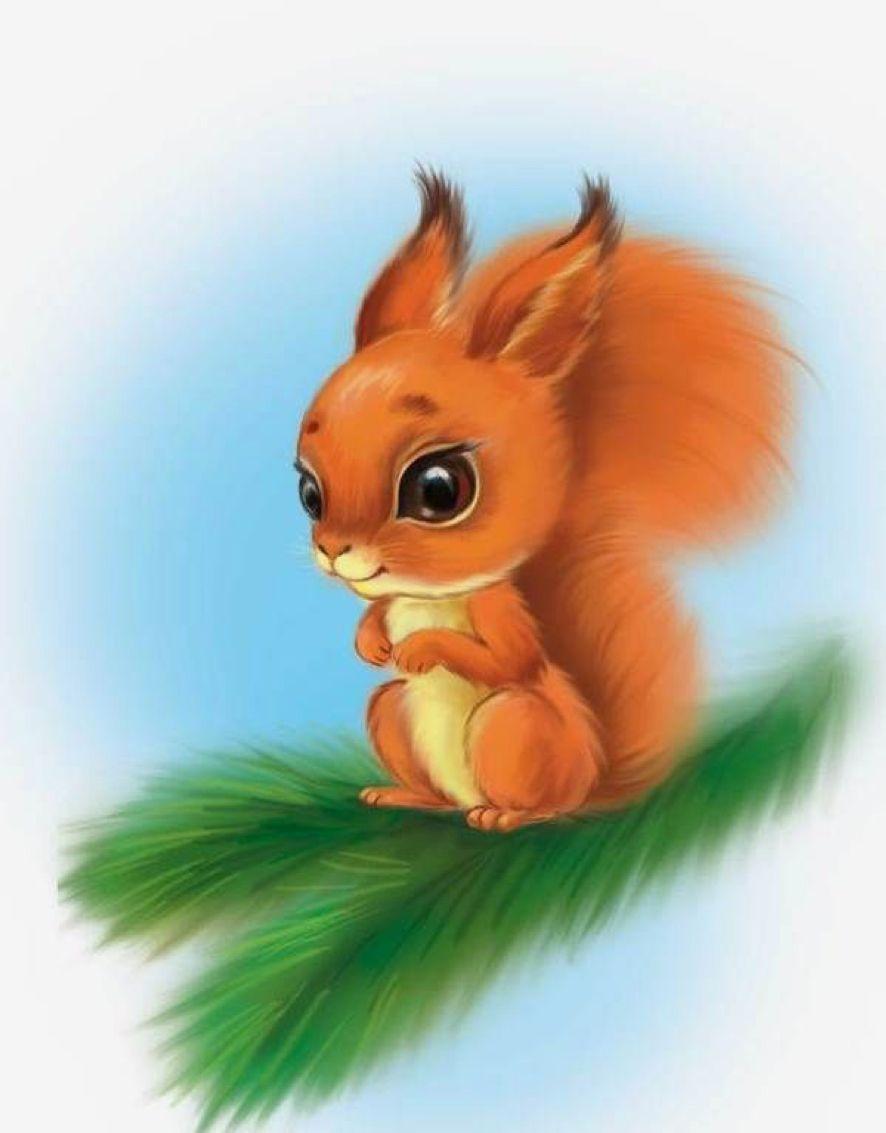 Cute Squirrel Painted Rock Idea Cute Drawings Squirrel Painting Cute Art
