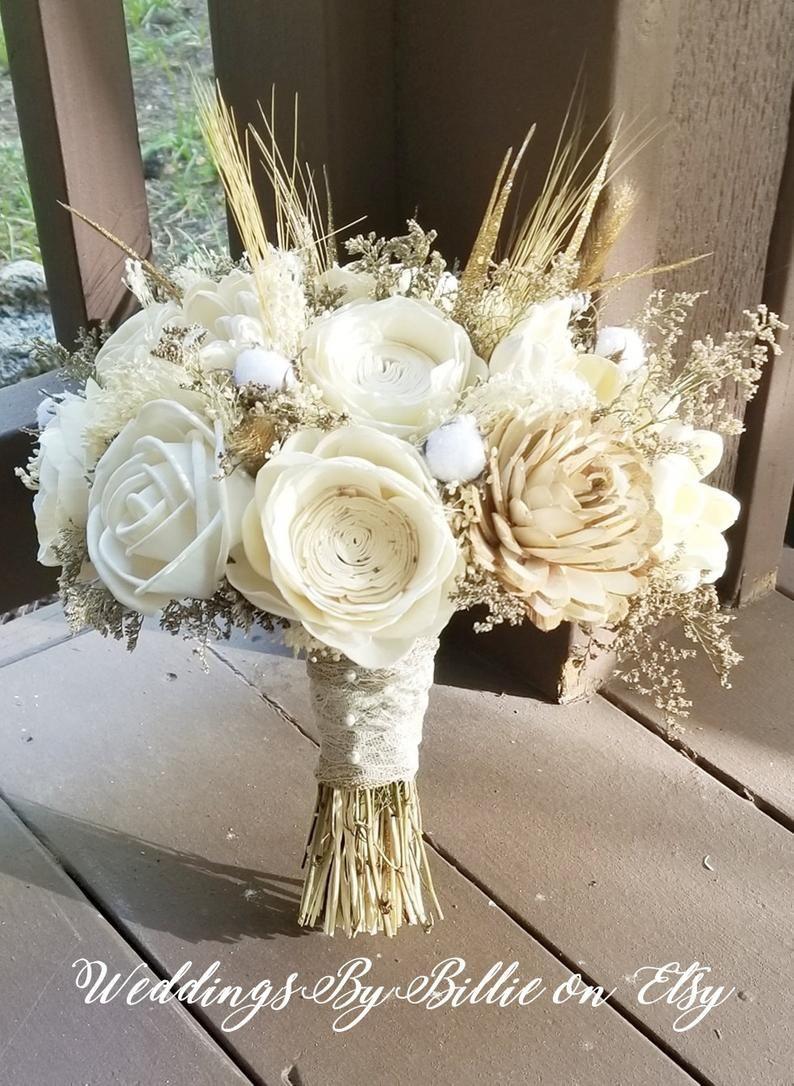 Ivory /& Natural Burlap Bridesmaid Bouquet 8/'/' Rustic Bouquet,Burlap Bouquet,Bouquet,Wedding Bouquet,Dried Bouquet,Alternative bouquet