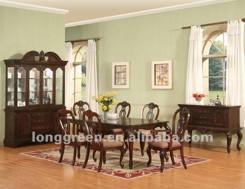 mediterranean style cherry wood dining room table   Tables de salle ...