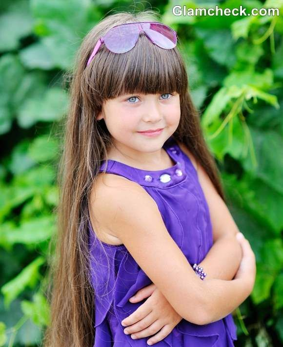 Styling Ideas For Little Girls With Long Hair And Bangs Long Hair Girl Girl Haircuts Long Hair Styles