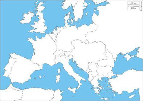 Europa 1914 Mappa Gratuita Mappa Muta Gratuita Cartina Muta