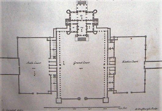 Seaton Delaval Hall plan