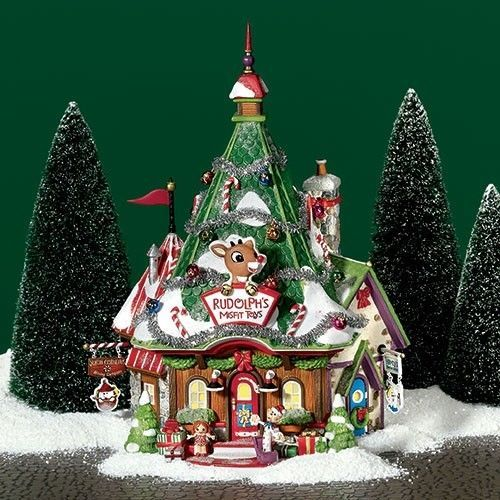 Rudolph Christmas Village.Dept 56 North Pole Rudolph S Misfit Headquarters 56769 New