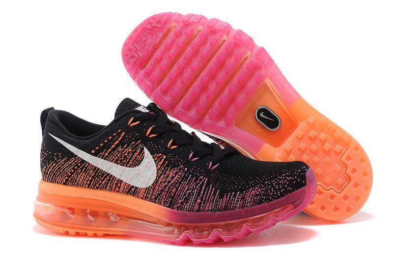 nike air max 2014 womens running shoes - pink\/black pattern
