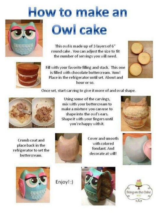 Owl Cake Instructions I Am Sooo Making This