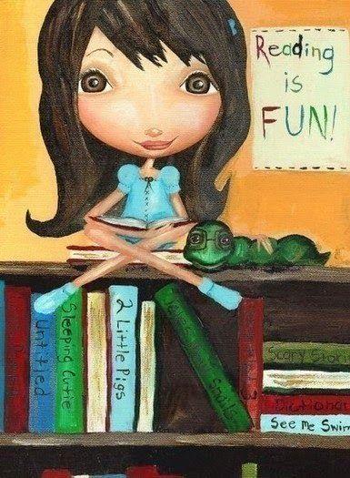 """O Lobo Leitor: Ler é divertido / """"Reading is fun"""""""