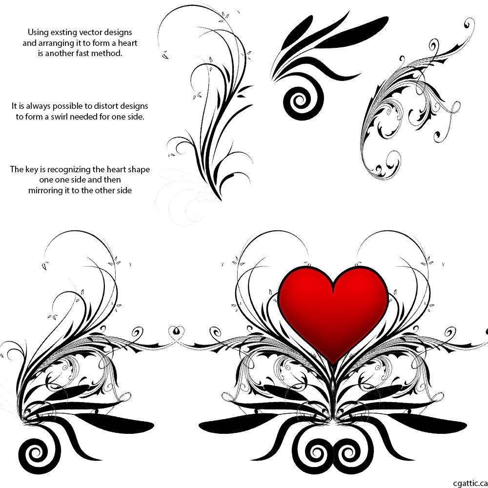 Heart Cartoon Drawing in 4 Steps With Photoshop | Cartoon ...