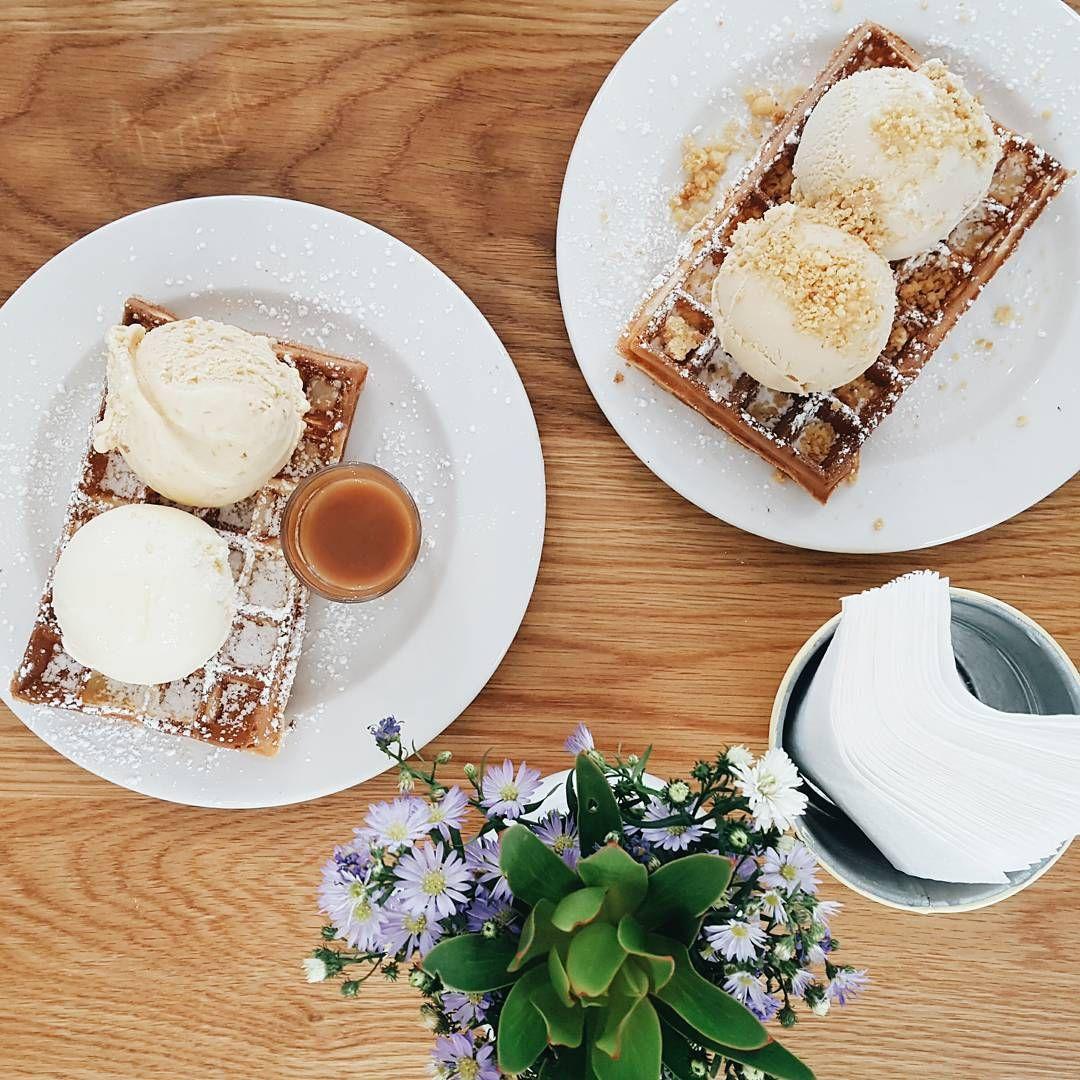 "93 Likes, 11 Comments - Amy Olivia (@amyoliviasoule) on Instagram: ""🍦🍦🍦 --------------------------------------------- #treats #icecream #waffles #saltedcaramel…"""