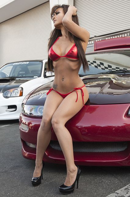 Asian girls and cars