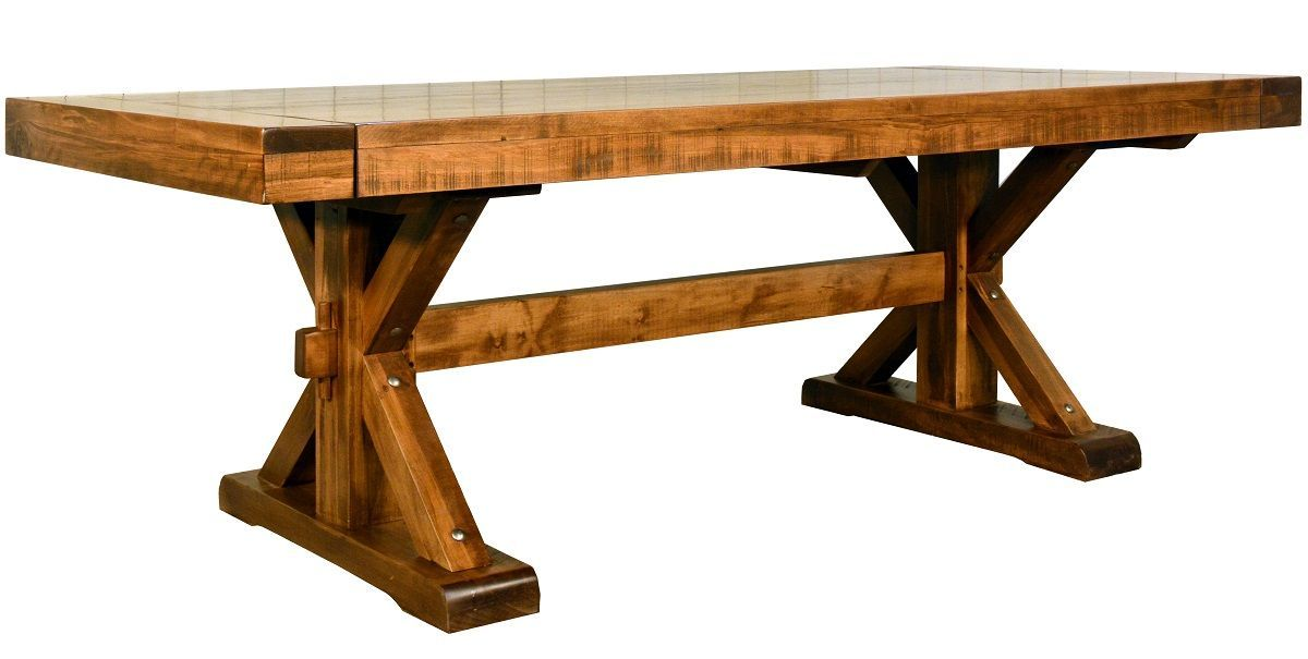 Casey Trestle Table With Leaves Countryside Amish Furniture