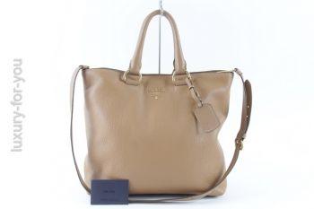*PRADA* Two-Way Bag BN2865 in Naturale