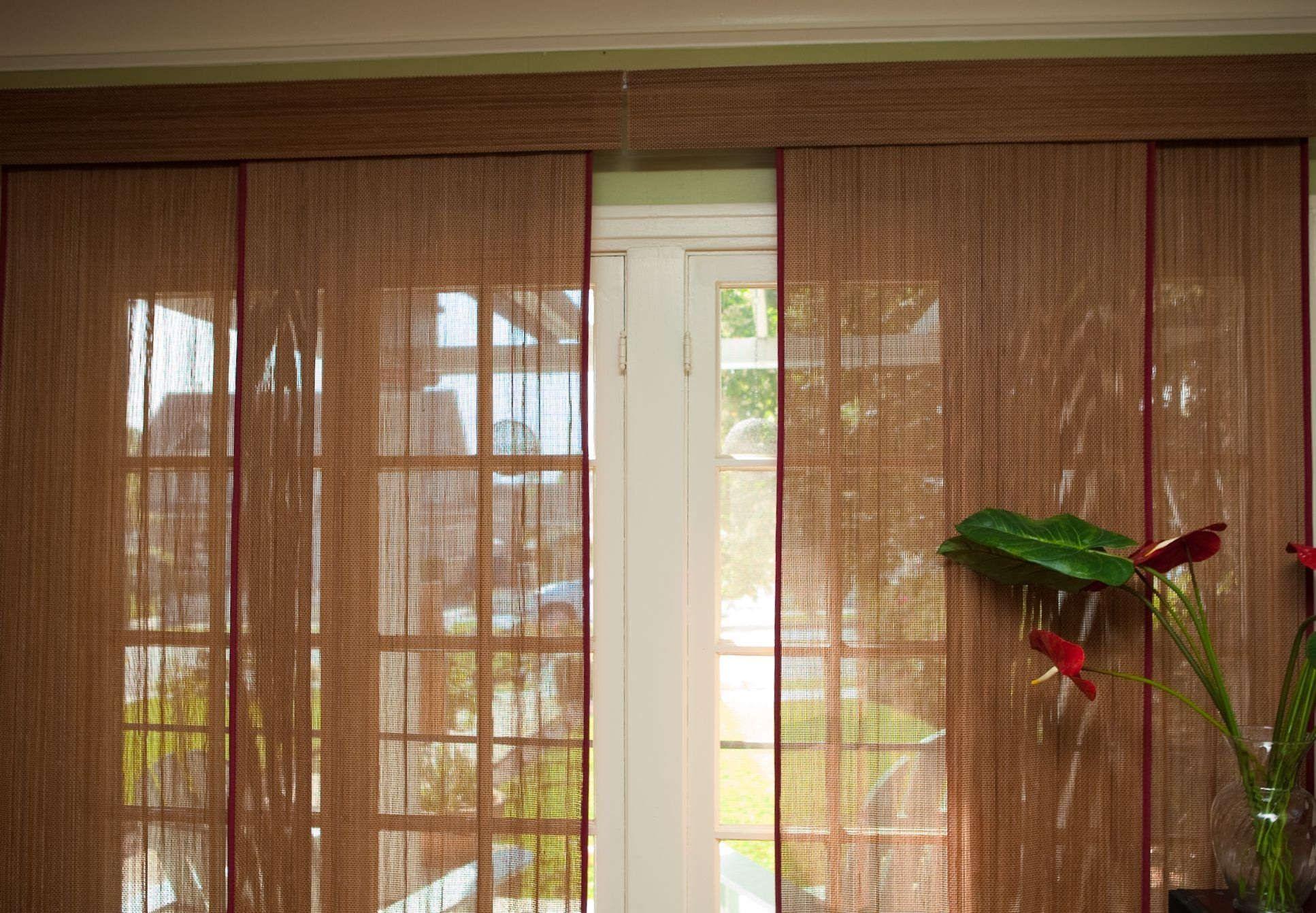 Captivating Bamboo Blinds Sliding Patio Door