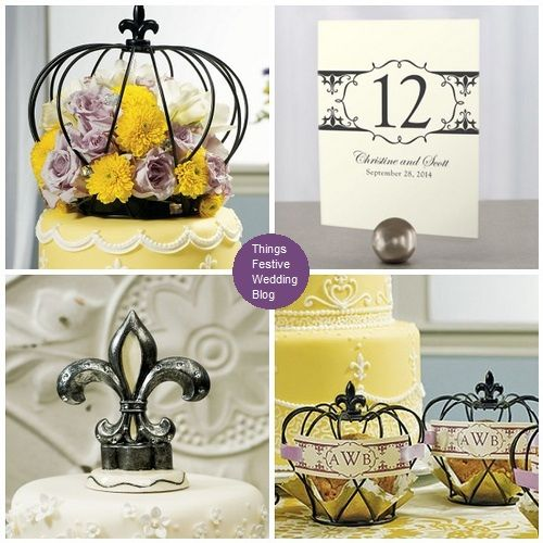 These fleur de lis wedding decorations are perfect for a French or ...