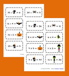 Multiplication/division flashcards