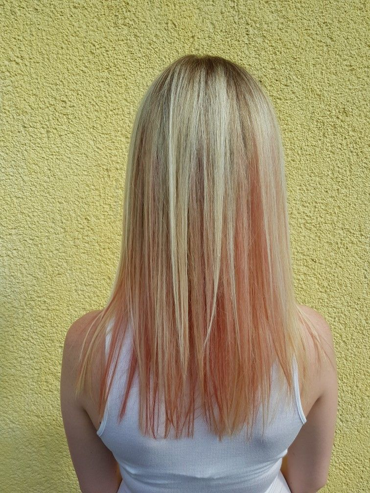 Ombre Hair Color With Rose Gold Pink Blonde Hair Pinterest