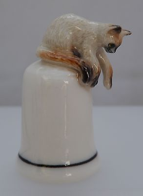 Klima Porcelain Baby Penguin on Thimble Wings Out L558