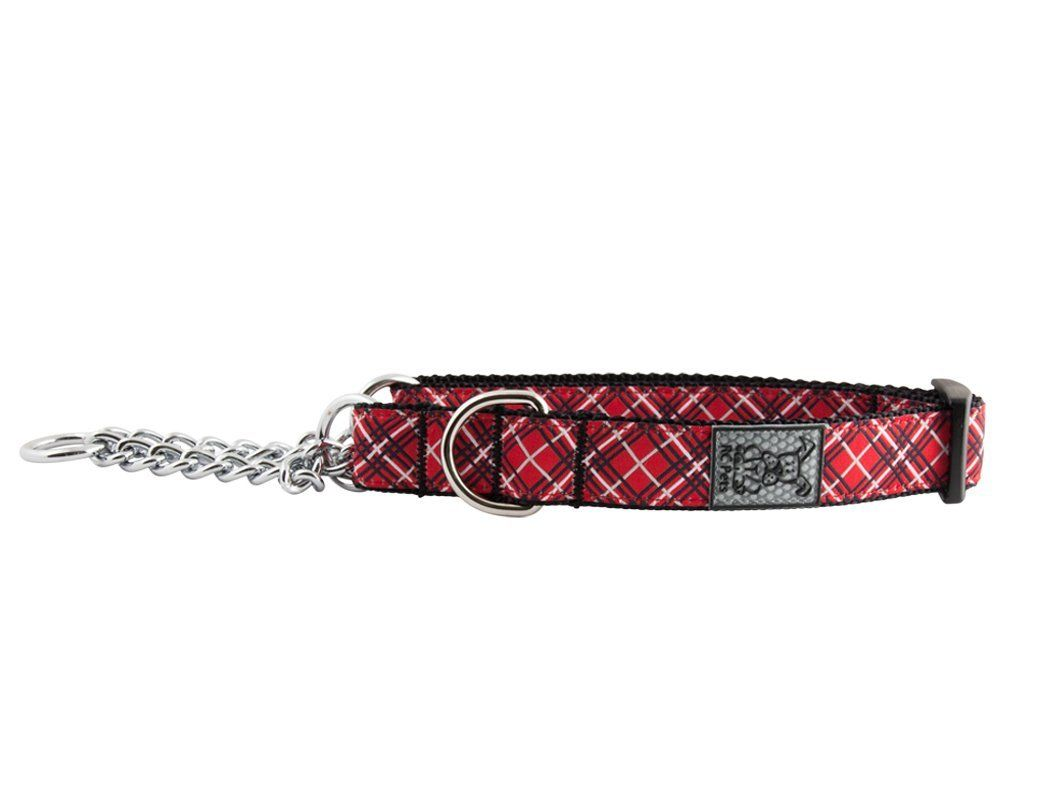 RC Pet Products Training Martingale Dog Collar, Red Tartan