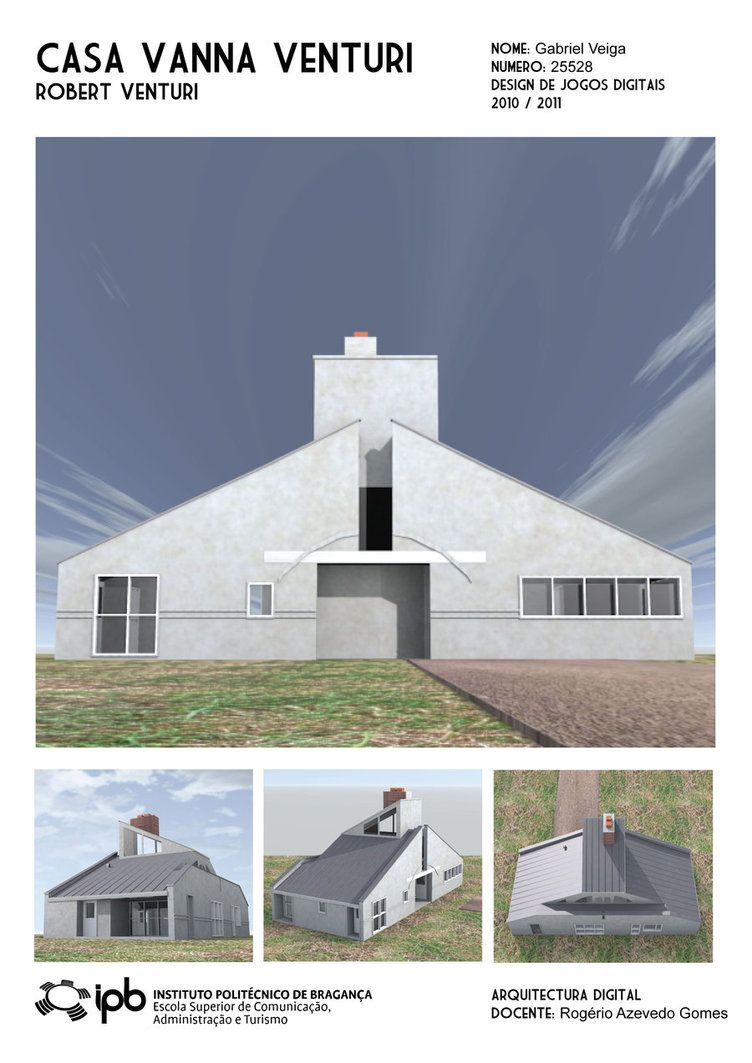 3D Model Of The Vanna Venturi House (exterior Only), Made/rendered In