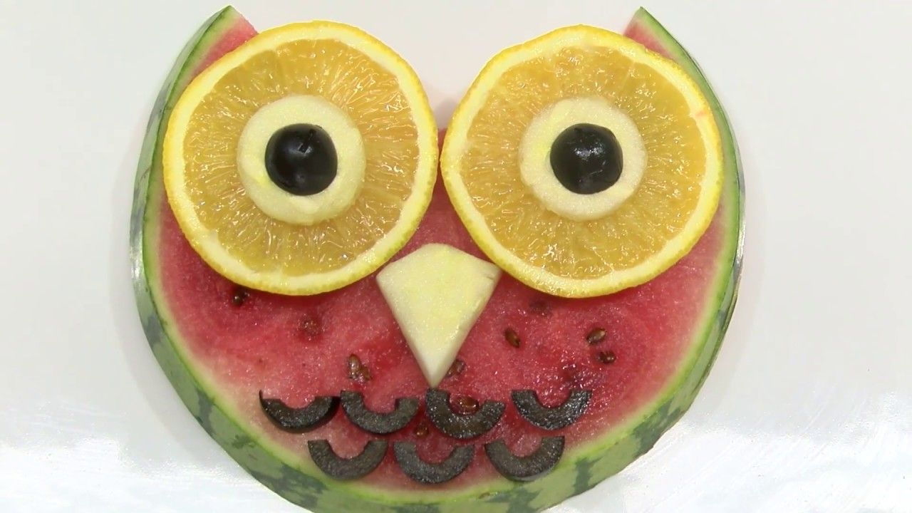 How to Make Owl Fruit- HogarTv By Juan Gonzalo Angel