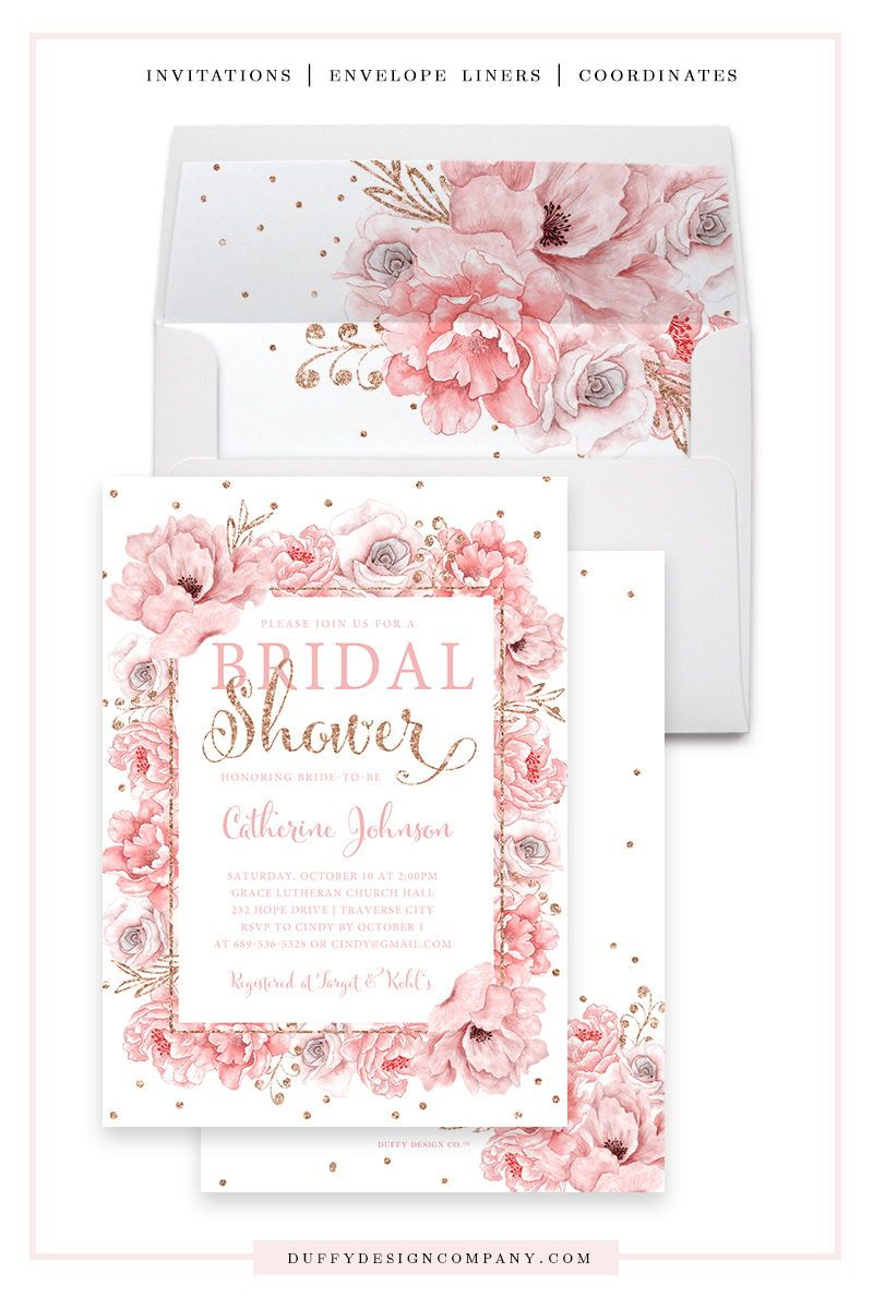AMERICAN GREETINGS 16 CARDS /&  ENVELOPES BRIDAL SHOWER INVITATION CARDS