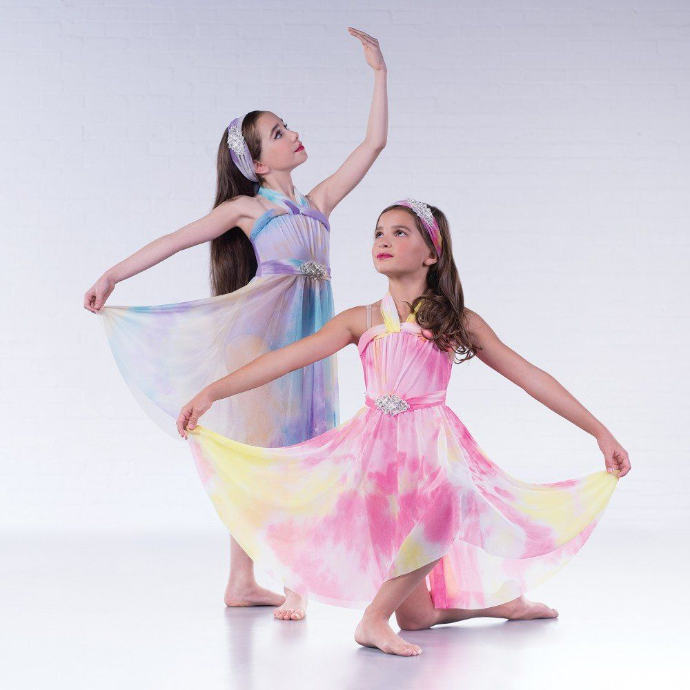 5ba2c41d1474 1st Position Tie Dye Lyrical Dress dazzle-dancewear.co.uk | Dance ...