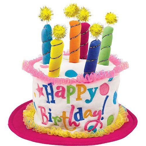 Plush Pink Birthday Cake Hat Party City