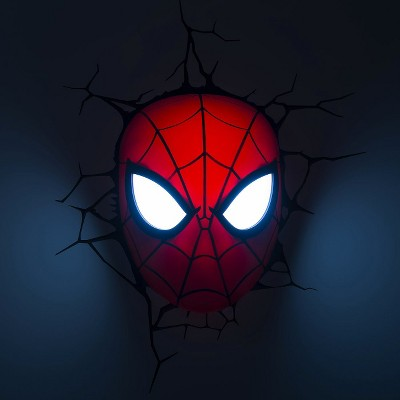 Marvel 3D Wall Nightlight - Spider-Man Mask | 3d wall, Spiderman and ...