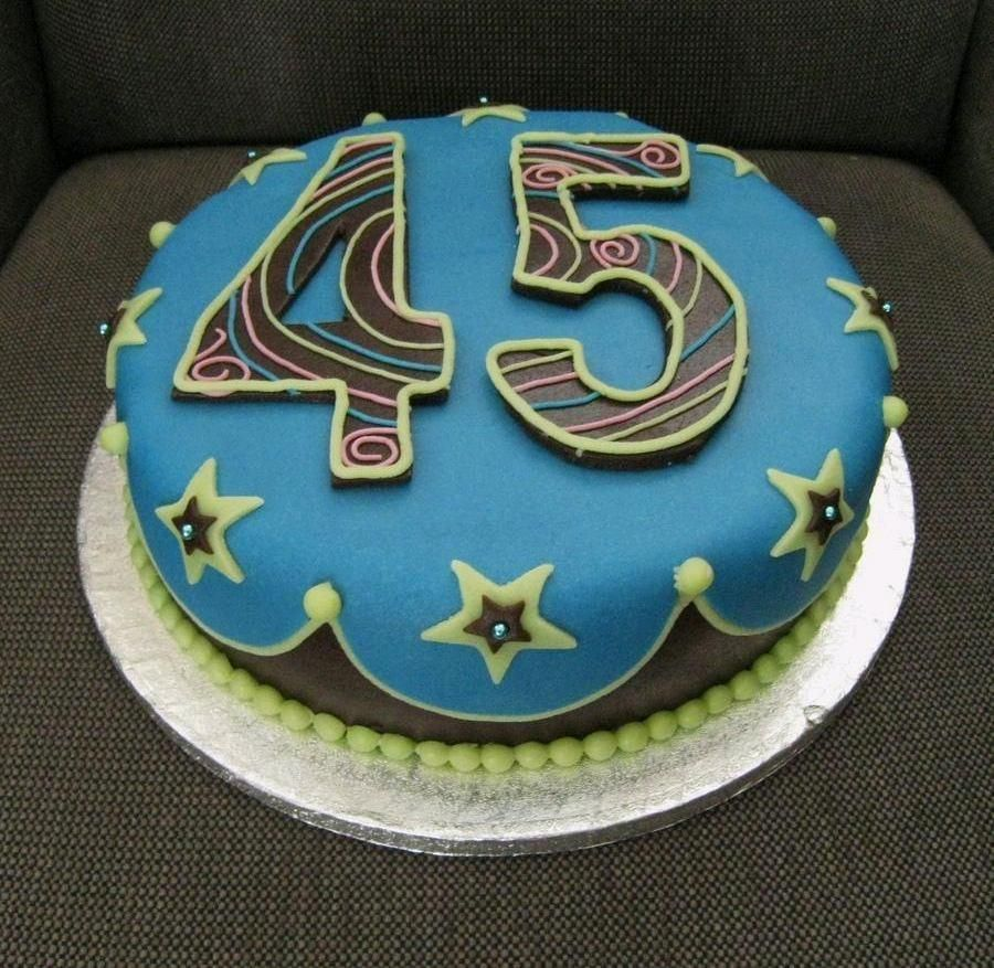 45th Birthday Cake With Images Cake Cake Design Birthday