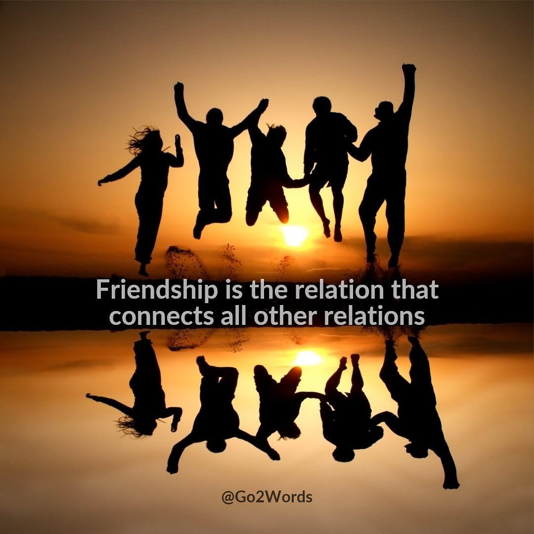 Friendship Is The Relation That Connects All Other Relations Friendship Is The Glue Of All Connections And Possib Dp For Whatsapp Relatable Best Friend Images