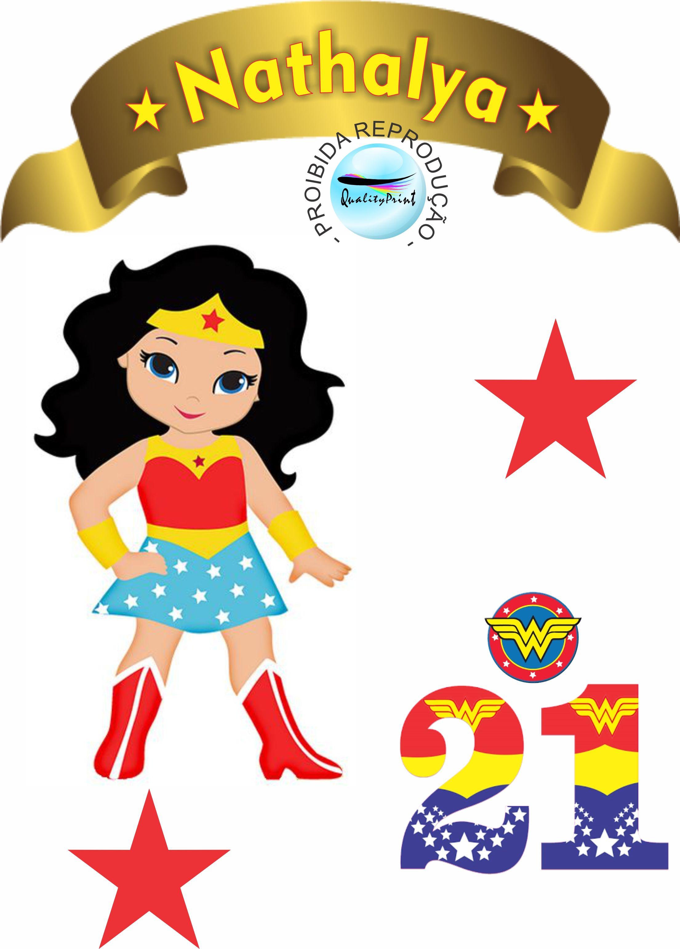Mulher Maravilha Com Imagens Festa Mulher Maravilha
