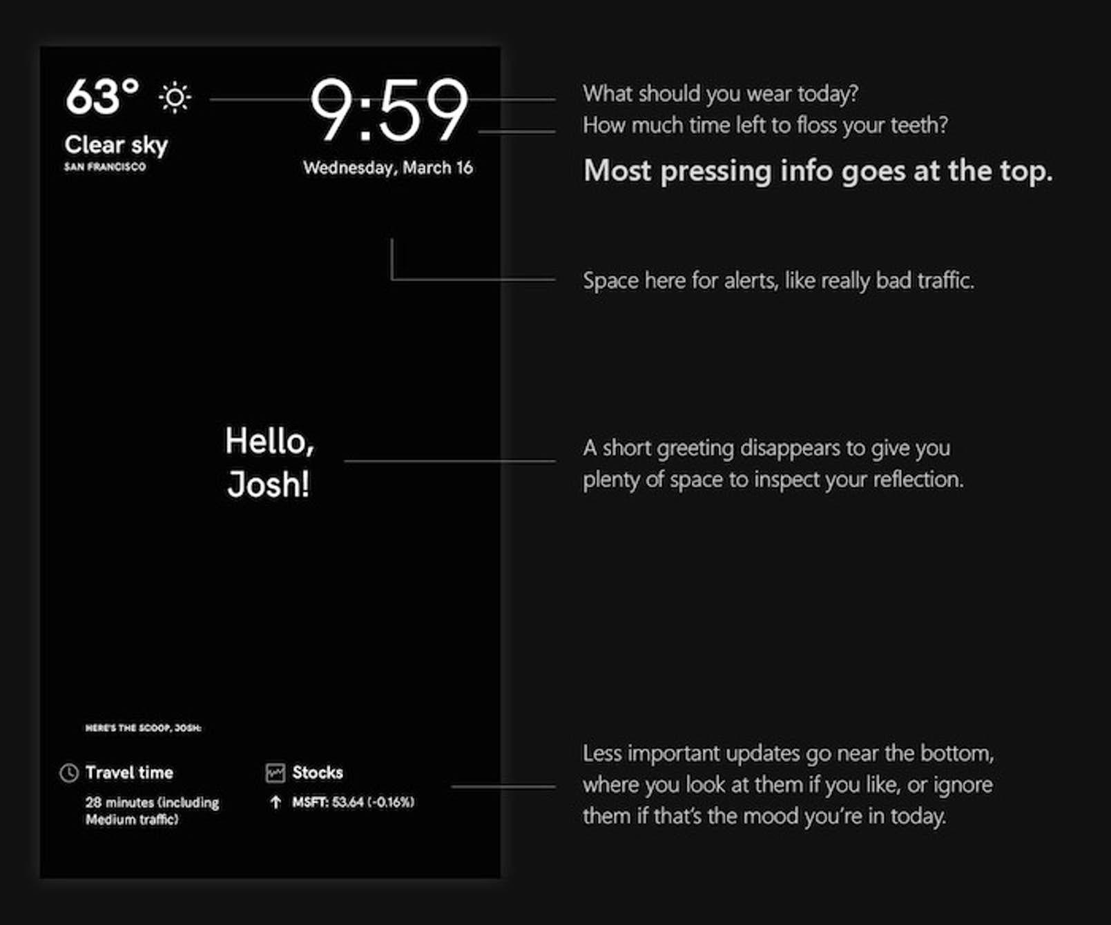 Microsoft Reveals The Tricks Behind Its Magic Mirror Smart Mirror Magic Mirror Mirror