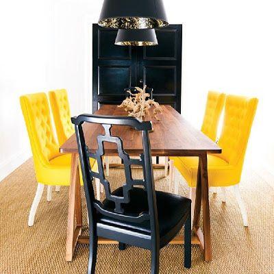 Black & Yellow Livingroom