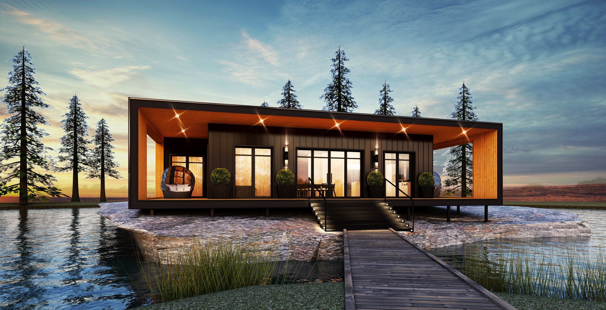The Honey Harbour Series Canada Builds Custom Modular Homes Ontario Custom Modular Homes Modular Homes Modular Home Plans