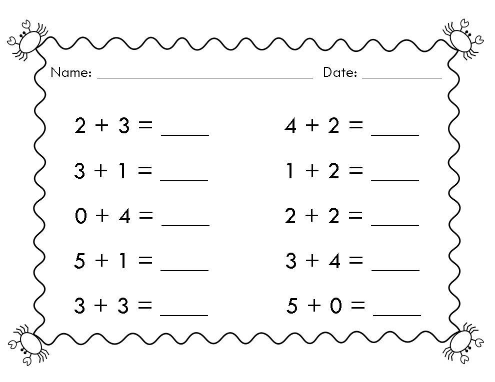 Beginner Math Worksheets Easy Math Worksheets Math Worksheets Kindergarten Math Worksheets