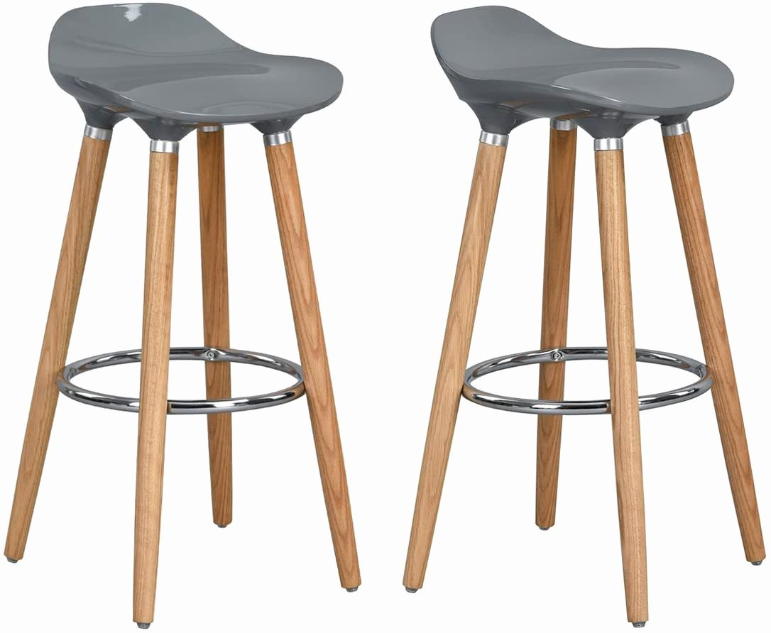 34 Inch Bar Stools Luxury Homy Casa Barstools Set Of 2 Backless 30 Inch Bar Chair Abs Plastic Seat With Wooden Bar Stools 34 Inch Bar Stools 30 Inch Bar Stools