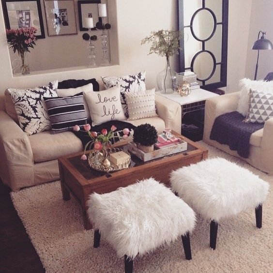 Pinterest @ Schneider24 Instagram @ Annette_schneider | Beige Living Rooms, Living Room Decor Apartment, Apartment Living Room