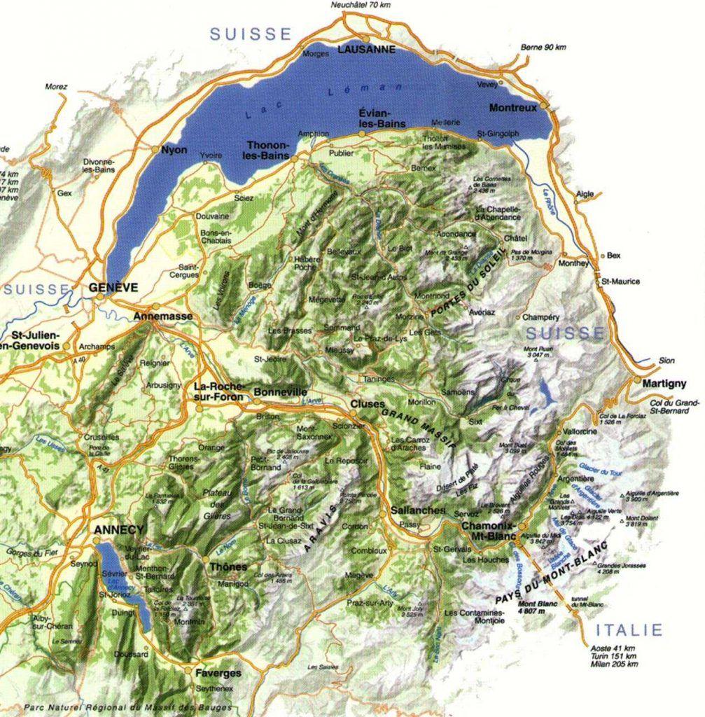 Carte De La Haute Savoie Savoie Carte Haute Savoie Tourisme