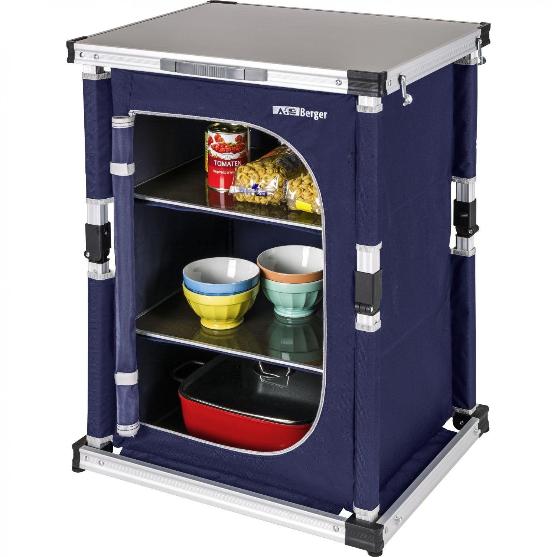 Amazon Mobel Allg Berger Kuchenbox Campingkuche Xl Schwarz Grau