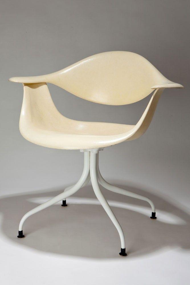 George Nelson Swag Leg Daf Lounge Chair Chair Chair Design White Metal