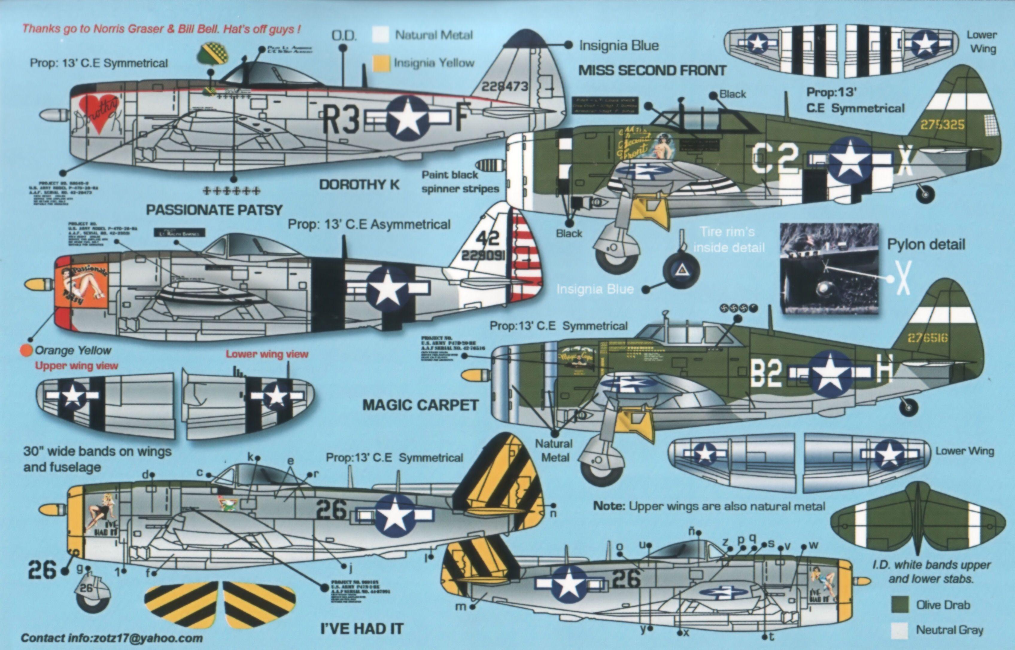 Even More P-47 Paint Schemes | P-47 Hot Rod Paint Job | Pinterest ...