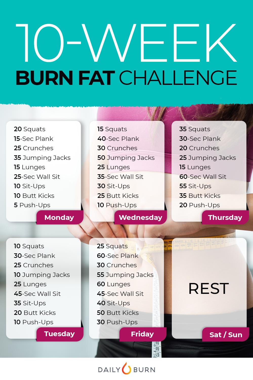 10 Week Calorie Burning Marathon Daily Burn Workout For Beginners 10 Things