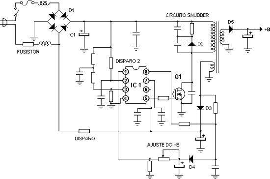 Fonte chaveada TV com MOSFET Detector De Metale, Arduino