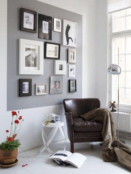 Decorar las paredes con composiciones de cuadros Gallery wall - decoracion de paredes