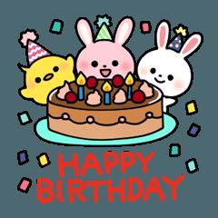 大人も使える誕生日 おめでと ありがと2 ハッピーバースデー イラスト ハッピーバースデー 誕生日